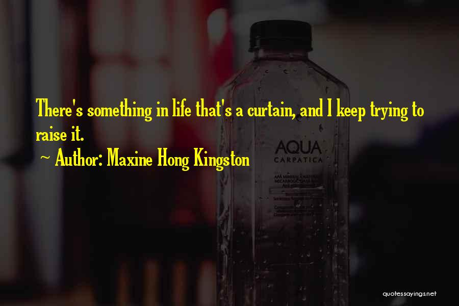 Keep Trying In Life Quotes By Maxine Hong Kingston