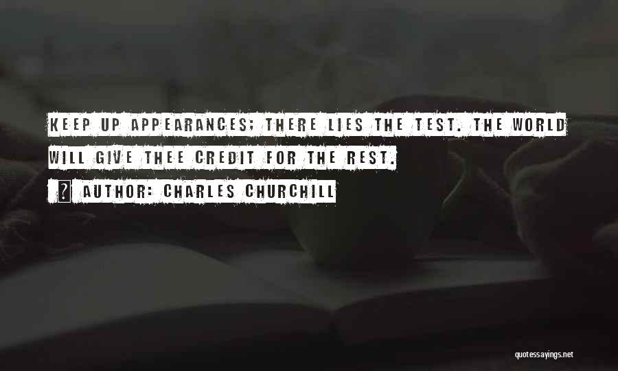 Keep Up Appearances Quotes By Charles Churchill
