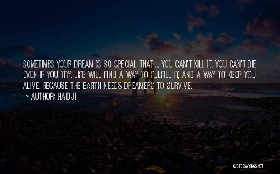 Keep Your Dream Alive Quotes By Haidji