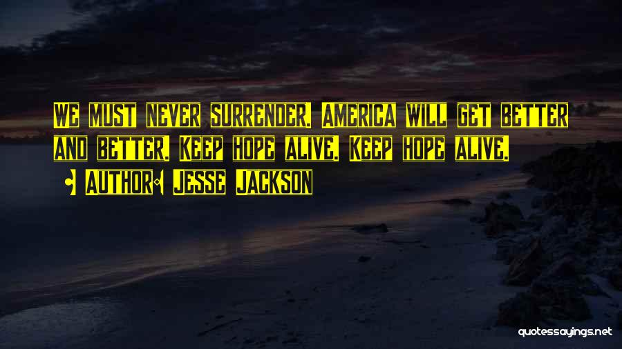 Keep Your Dream Alive Quotes By Jesse Jackson