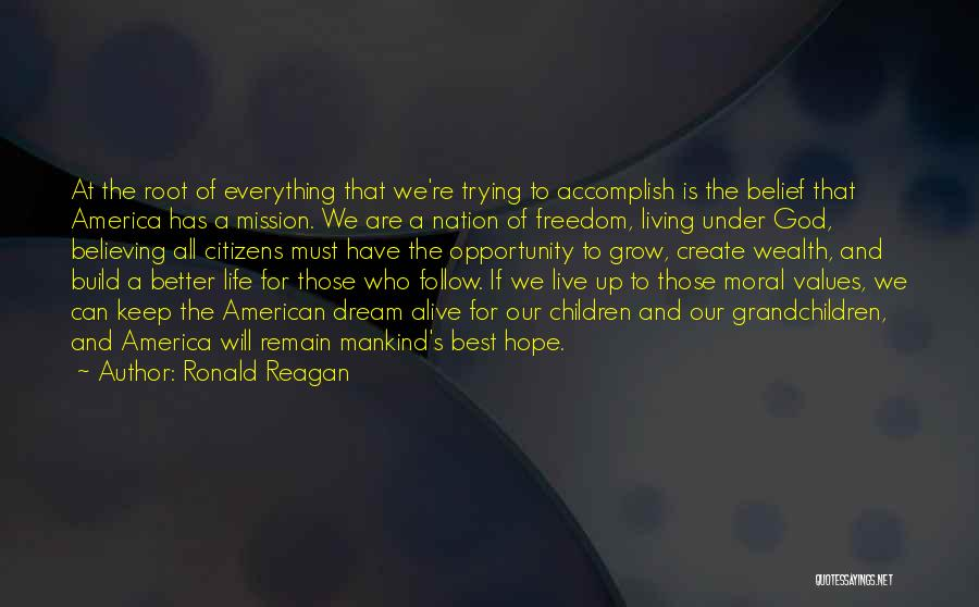 Keep Your Dream Alive Quotes By Ronald Reagan