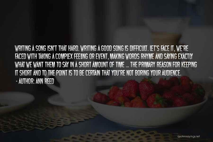 Keeping Feelings To Yourself Quotes By Ann Reed