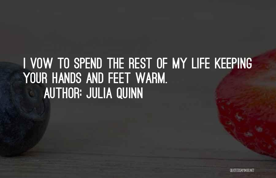 Keeping Me Warm Quotes By Julia Quinn