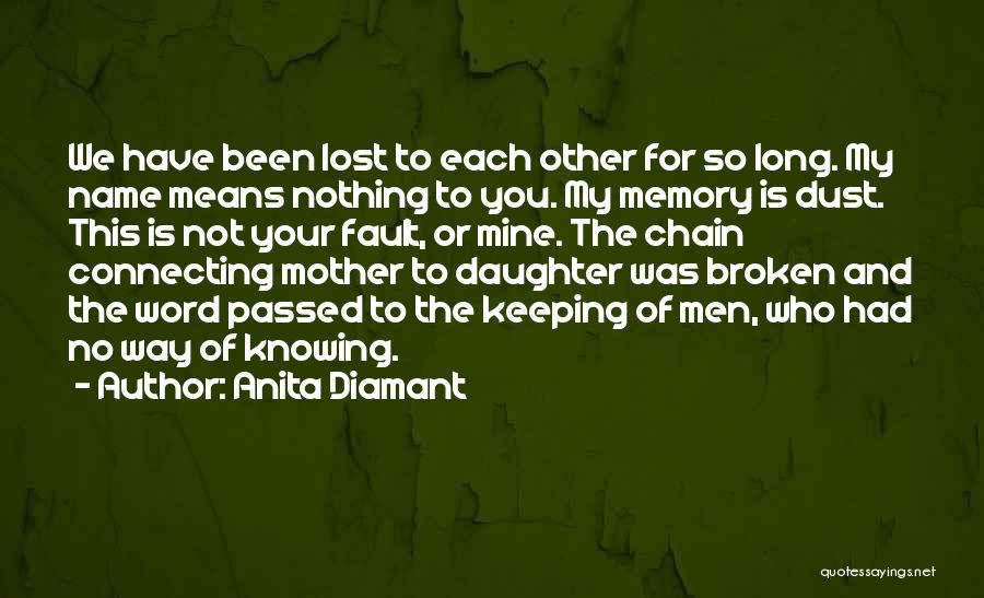 Keeping One's Word Quotes By Anita Diamant