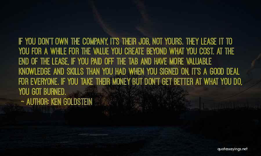 Ken Goldstein Quotes 1957298