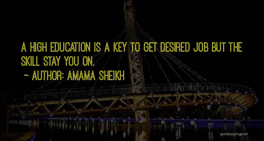 Key To Success Education Quotes By Amama Sheikh