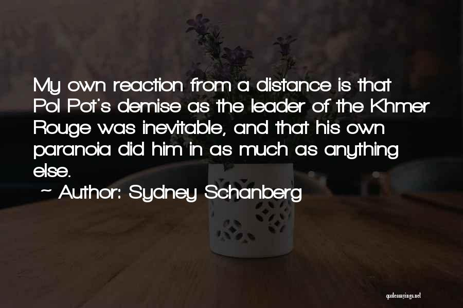 Khmer Quotes By Sydney Schanberg