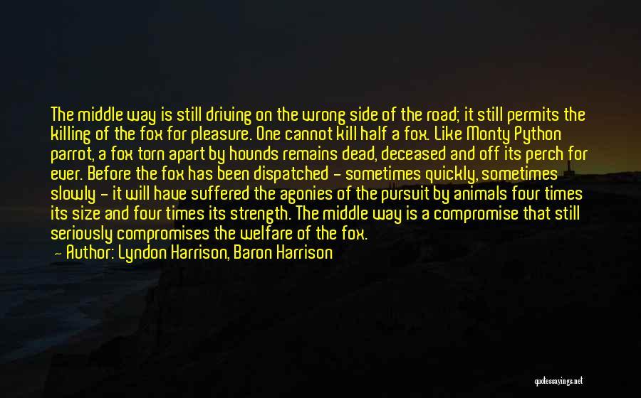 Kill Me Slowly Quotes By Lyndon Harrison, Baron Harrison