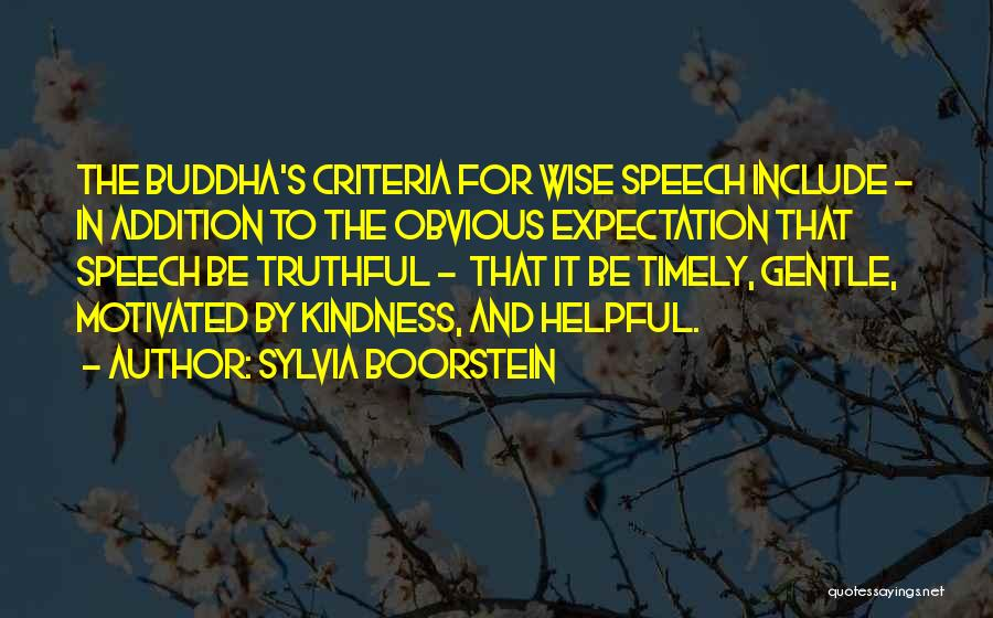 Kindness By Buddha Quotes By Sylvia Boorstein