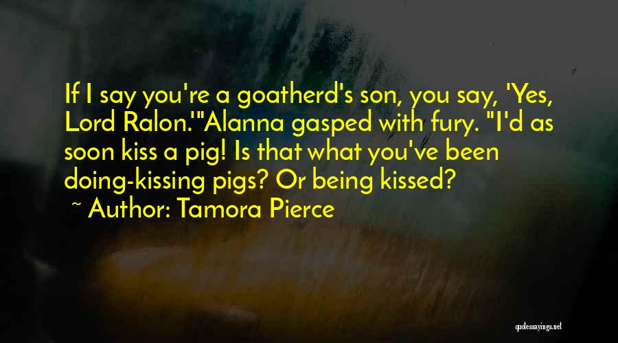 Kissing You Is Quotes By Tamora Pierce