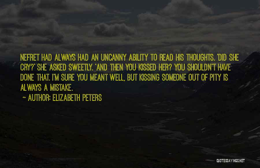 Kissing You Love Quotes By Elizabeth Peters