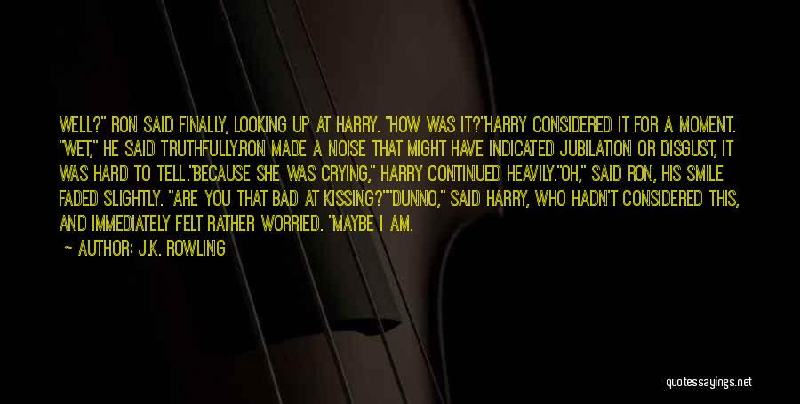 Kissing You Love Quotes By J.K. Rowling