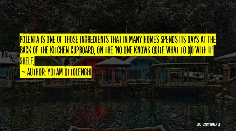 Kitchen Cupboard Quotes By Yotam Ottolenghi