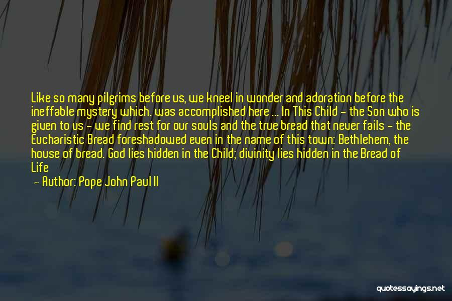 Kneel Before God Quotes By Pope John Paul II