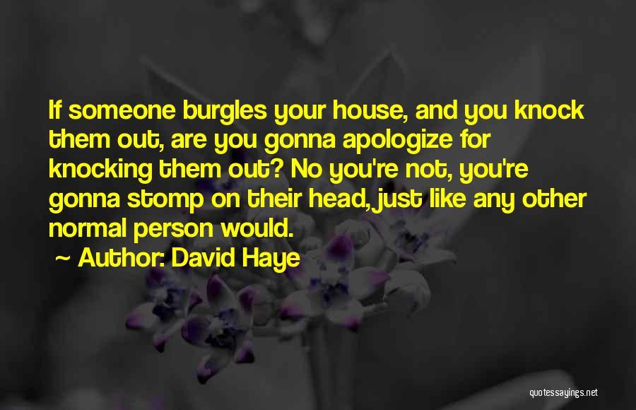 Knocking Quotes By David Haye
