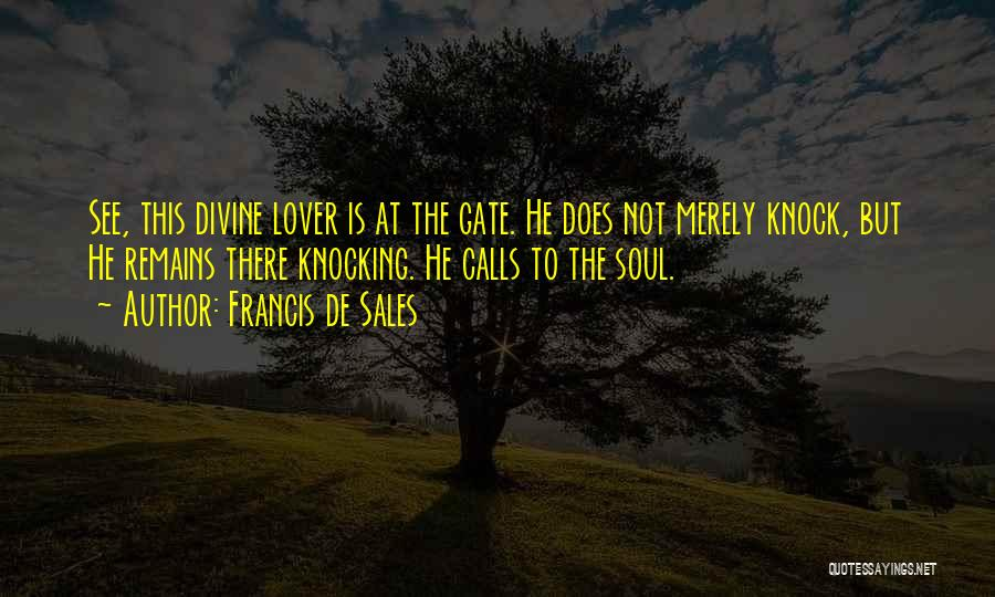 Knocking Quotes By Francis De Sales