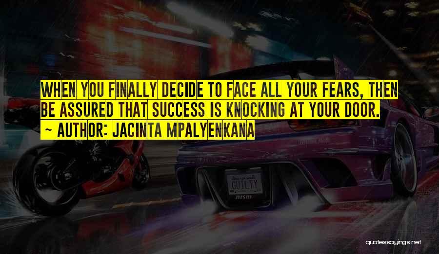 Knocking Quotes By Jacinta Mpalyenkana