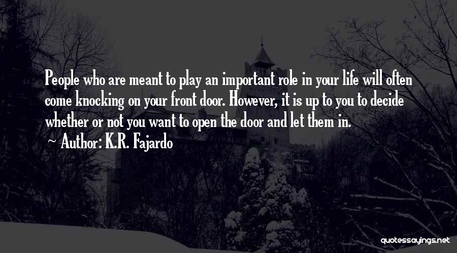 Knocking Quotes By K.R. Fajardo