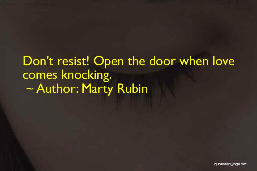 Knocking Quotes By Marty Rubin
