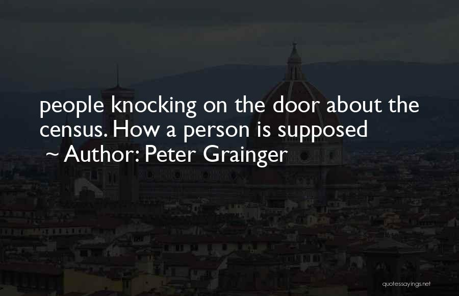 Knocking Quotes By Peter Grainger