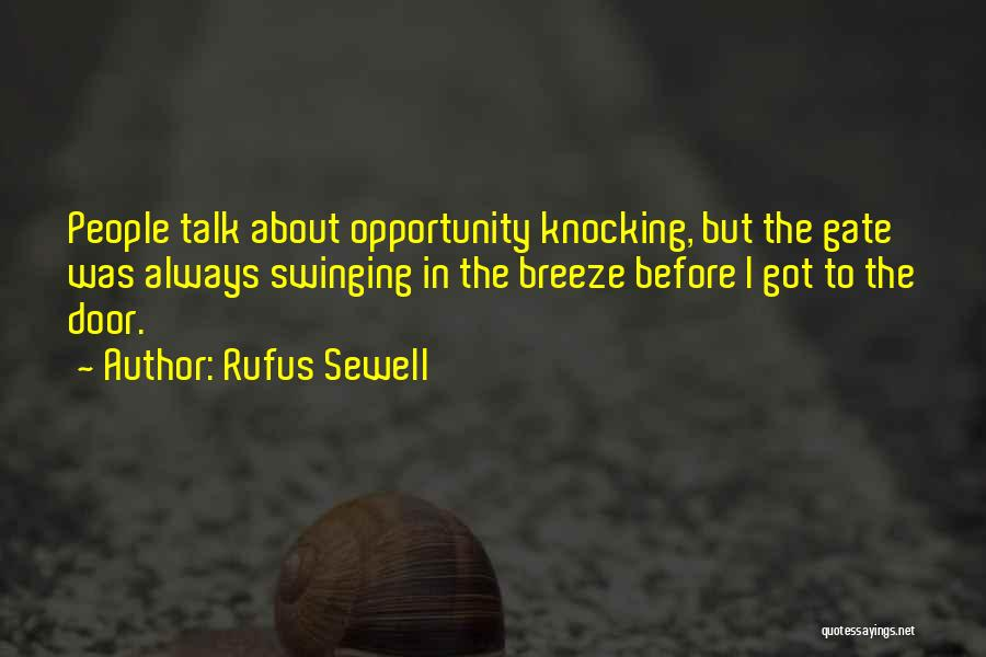 Knocking Quotes By Rufus Sewell