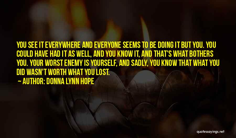 Know He Cheating Quotes By Donna Lynn Hope