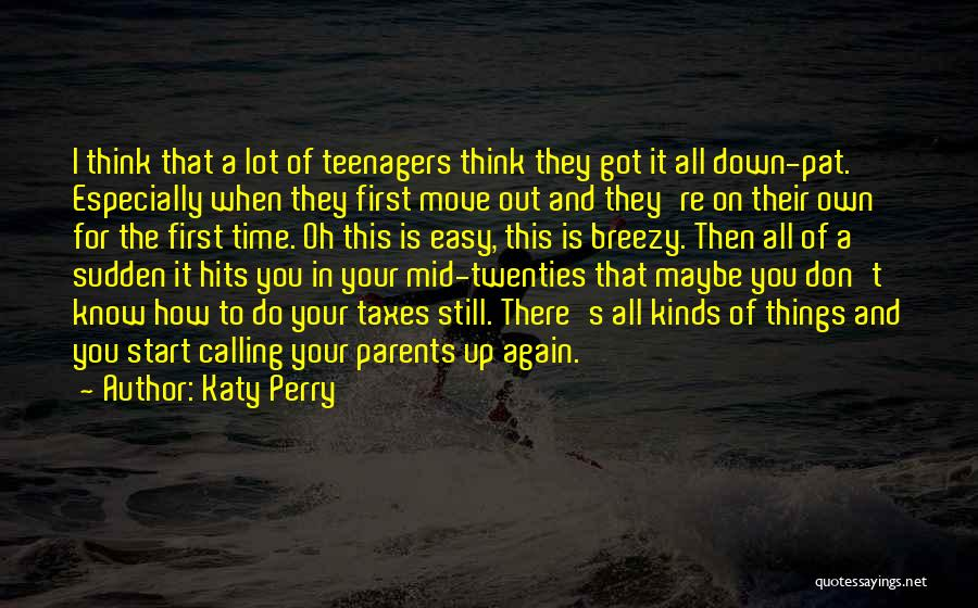 Know It All Teenager Quotes By Katy Perry