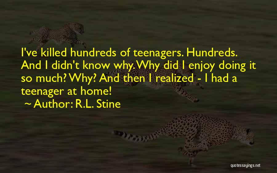 Know It All Teenager Quotes By R.L. Stine