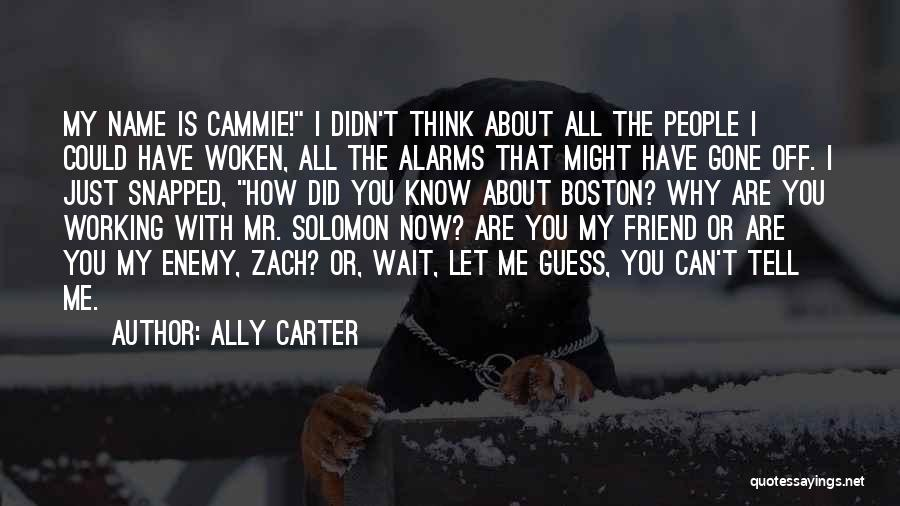 Know My Name Quotes By Ally Carter