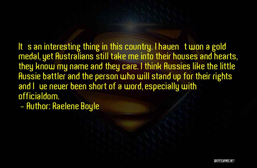 Know My Name Quotes By Raelene Boyle