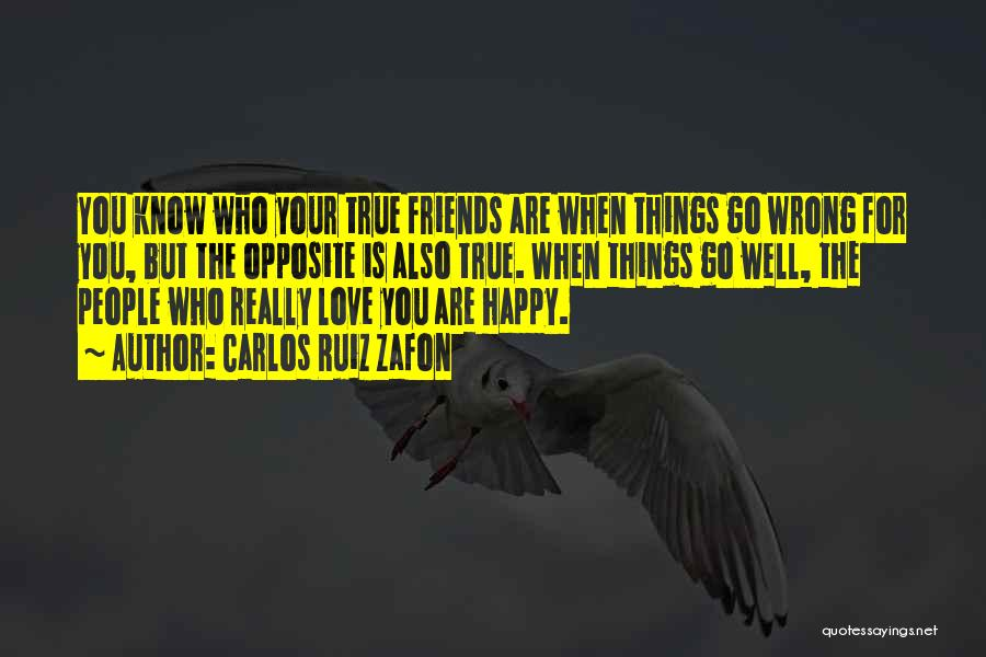 Know Who Your Friends Are Quotes By Carlos Ruiz Zafon