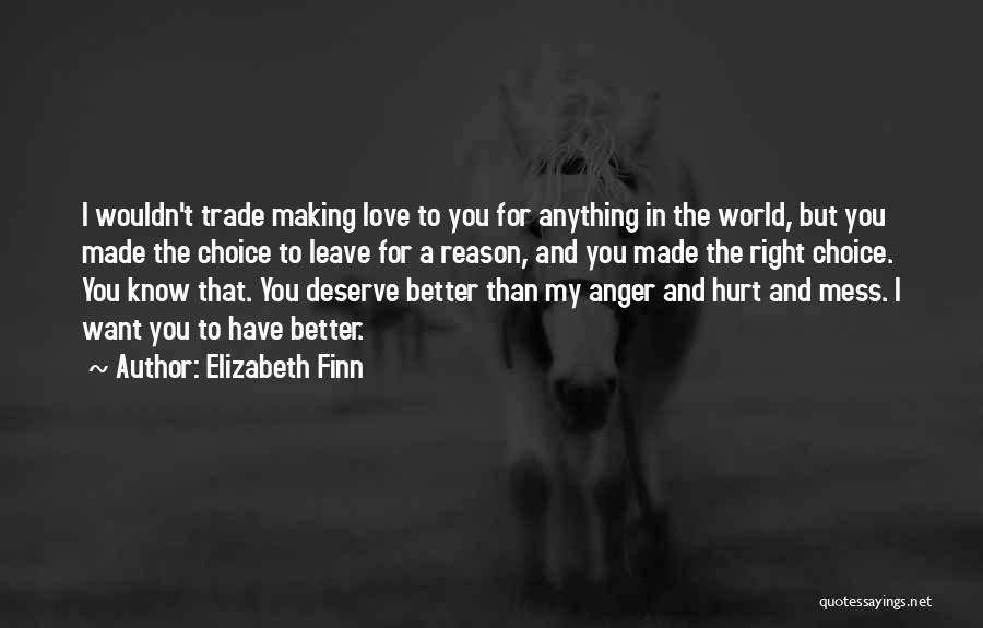Know You Deserve Better Quotes By Elizabeth Finn