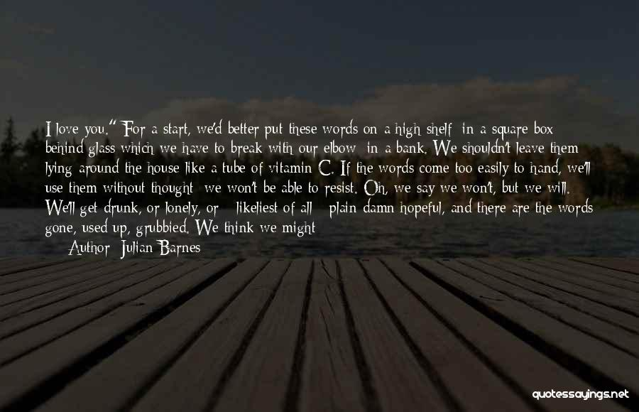 Know You Deserve Better Quotes By Julian Barnes