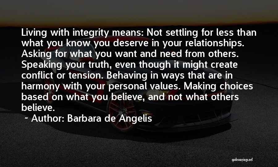 Know You Deserve Quotes By Barbara De Angelis