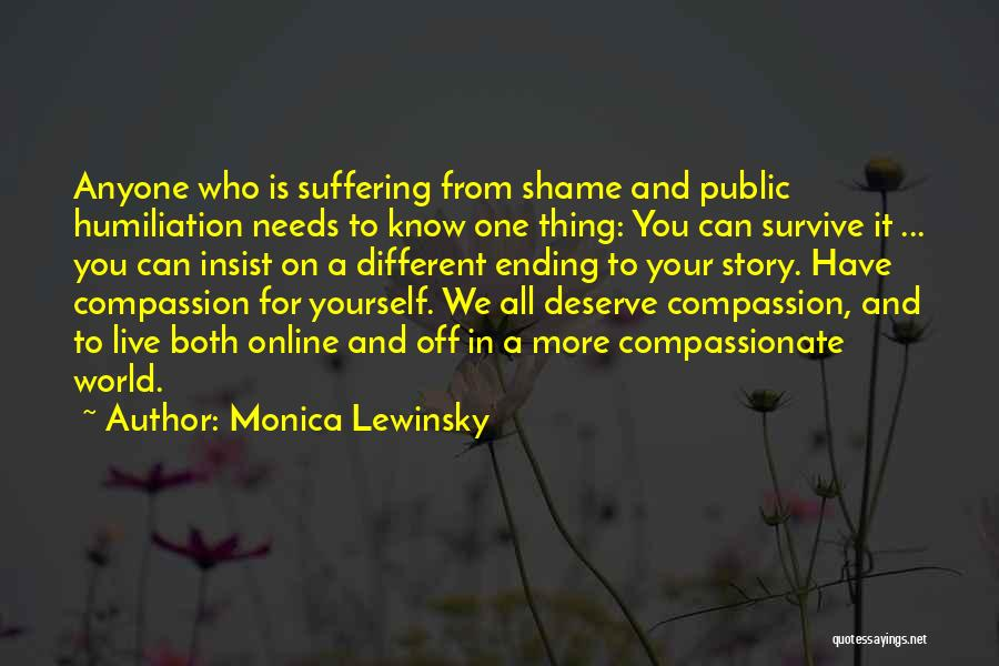 Know You Deserve Quotes By Monica Lewinsky