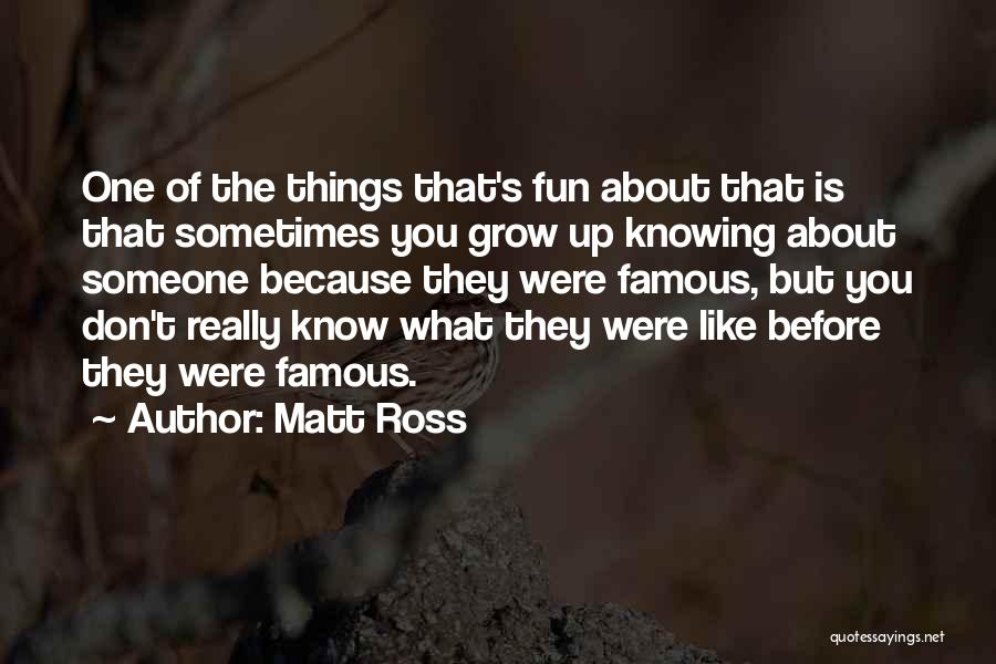 Knowing How To Have Fun Quotes By Matt Ross