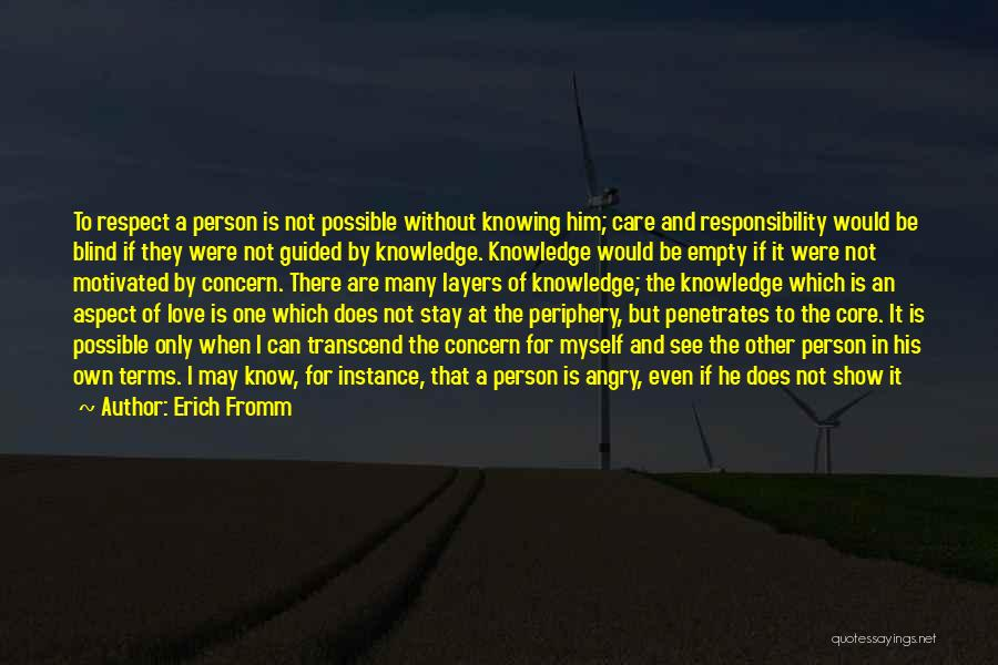 Knowing If He's The One Quotes By Erich Fromm