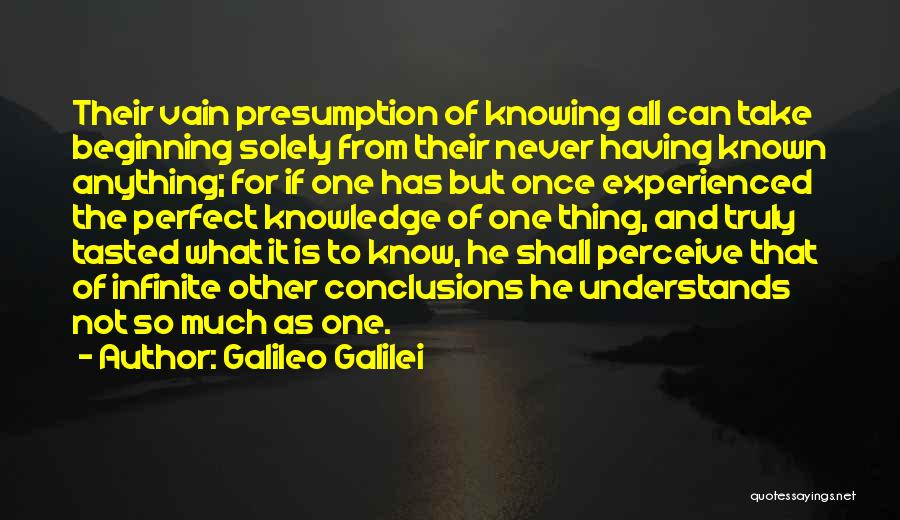 Knowing If He's The One Quotes By Galileo Galilei
