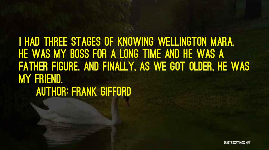 Knowing Someone For A Long Time Quotes By Frank Gifford