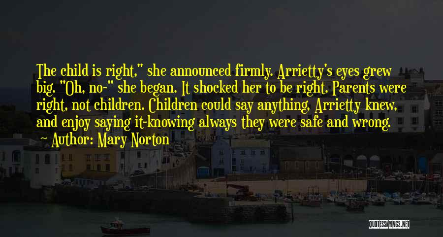 Knowing Something Is Wrong Quotes By Mary Norton