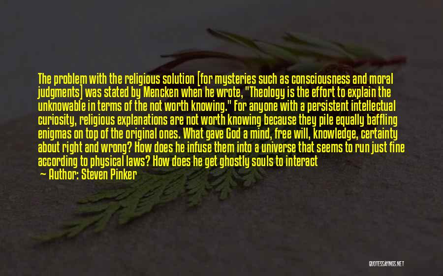 Knowing Something Is Wrong Quotes By Steven Pinker