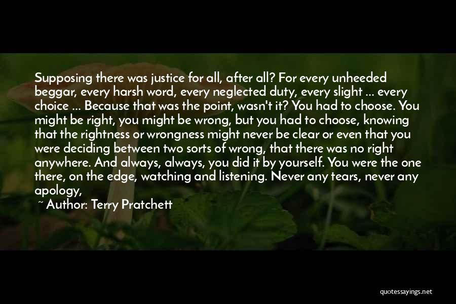 Knowing Something Is Wrong Quotes By Terry Pratchett