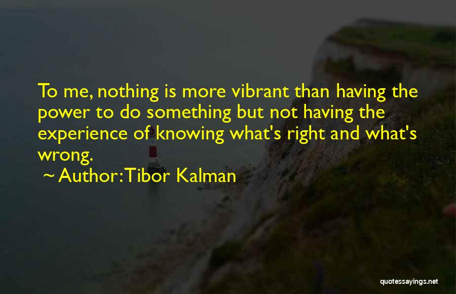 Knowing Something Is Wrong Quotes By Tibor Kalman