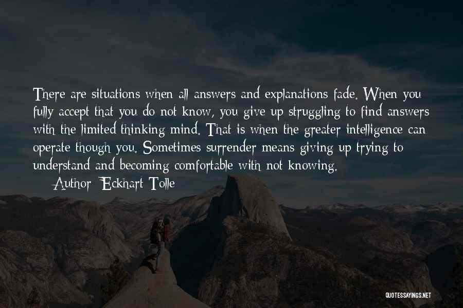 Knowing When You Find The One Quotes By Eckhart Tolle