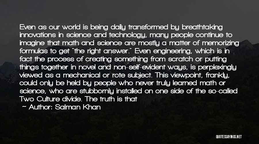 Knowledge And Creativity Quotes By Salman Khan