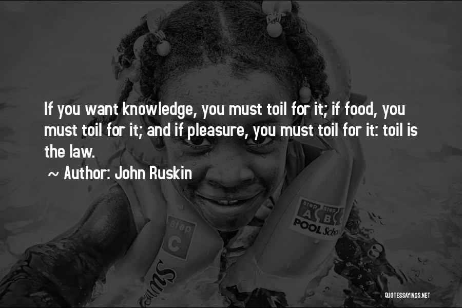 Knowledge Is Food Quotes By John Ruskin