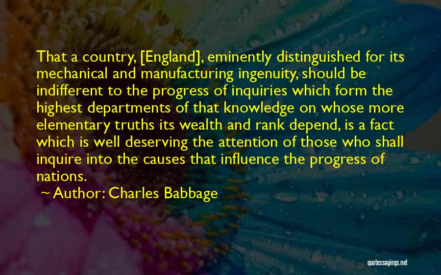 Knowledge Is Wealth Quotes By Charles Babbage