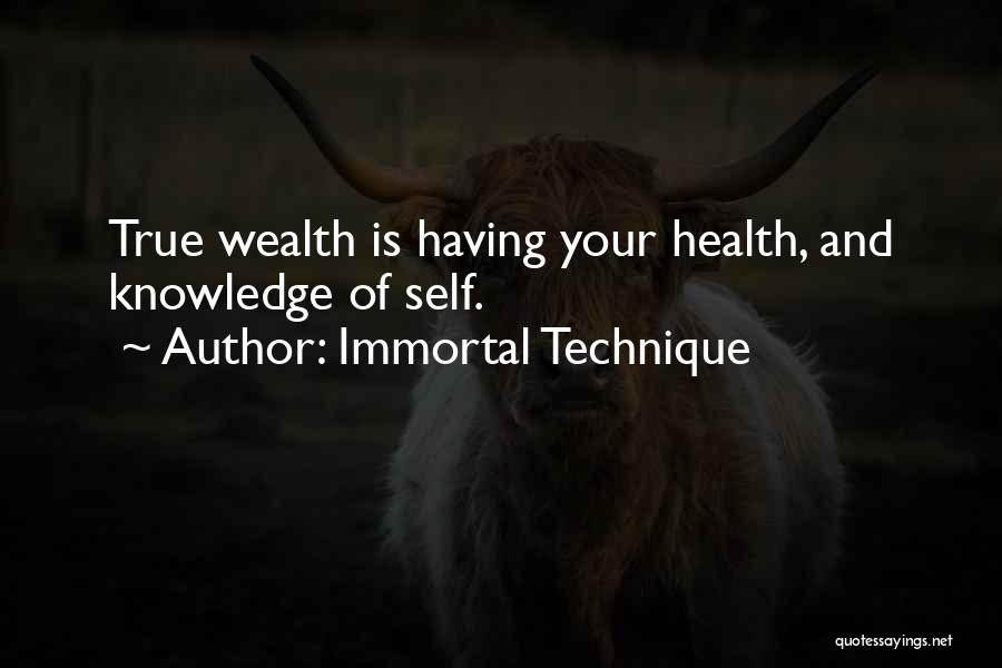 Knowledge Is Wealth Quotes By Immortal Technique