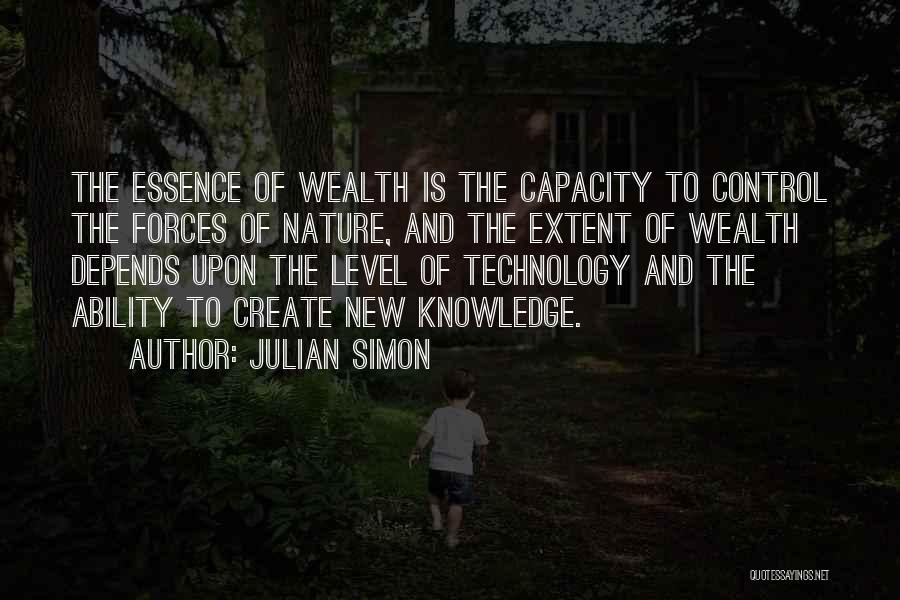 Knowledge Is Wealth Quotes By Julian Simon