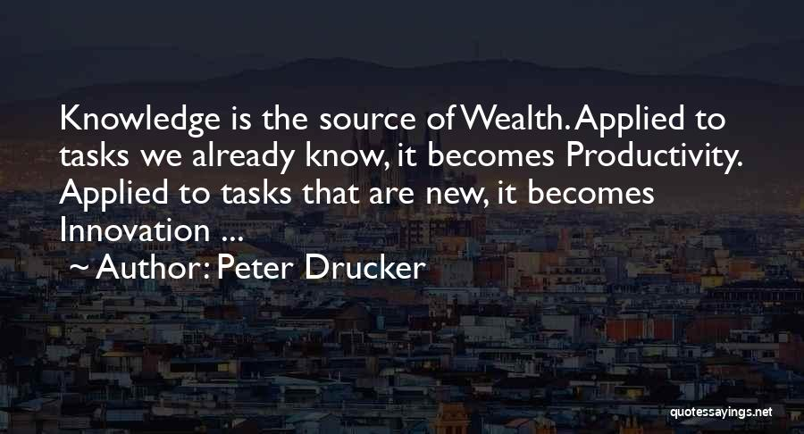 Knowledge Is Wealth Quotes By Peter Drucker
